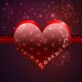 Background with red heart Stock Image