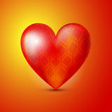 Background with red heart. Stock Images