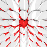Background with red heart in the centre Stock Image