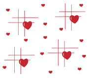 Background with red heart and lines Royalty Free Stock Photography
