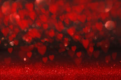 Background with red heart for Valentines Day Royalty Free Stock Images