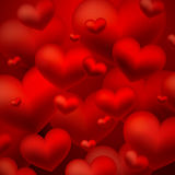 Background with red hearts. Abstract background with red hearts Royalty Free Stock Photography