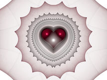 Background with red hearts. Beautiful red background with hearts and curves. Perfect texture for valentine gifts or wedding invitation card stock illustration