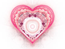 Background with red hearts Royalty Free Stock Image