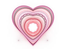 Background with red hearts Stock Photos