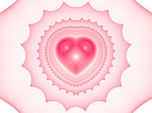 Background with red hearts. Beautiful red background with hearts and curves. Perfect texture for valentine gifts or wedding invitation card Royalty Free Illustration