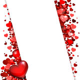 Background of red hearts. Background of hearts for congratulation Stock Images