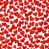 Background with red hearts in 3D, three-dimensional image, high resolution, birthday card, isolated on white background Stock Images
