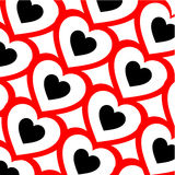 Background with red hearts Stock Image