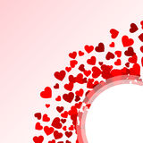 Background with red hearts. Design element or  Background with red hearts Vector Illustration