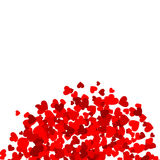 Background with red hearts. Design element or Background with red hearts Stock Illustration