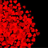 Background with red hearts Royalty Free Stock Photos