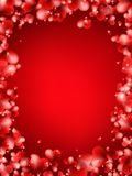 Background from red hearts. + EPS10 Royalty Free Stock Image