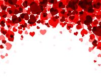 Background with red hearts. Romantic valentine background with red hearts. Vector paper illustration Stock Photos
