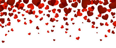 Background with red hearts. Romantic background with red hearts. Vector paper illustration Royalty Free Stock Photography