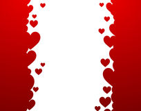 Background with red hearts Stock Images