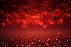 Background of red hearts Stock Photo
