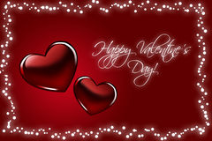 Background with red hearts to Valentine's Day. Stock Photography