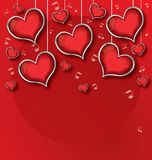 Background with red Hearts Royalty Free Stock Images