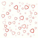 Background with red hearts for valentines day on white. Background with red hearts for valentines day on white color Stock Photos