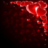 Background with red hearts Royalty Free Stock Photo