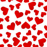 Background with red hearts. Stock Image