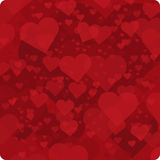 Background of red hearts. Vector background with red hearts. Vector background for decoration romantic images Royalty Free Stock Image