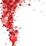 Background of red hearts Royalty Free Stock Photo