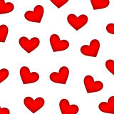 Background of red hearts Royalty Free Stock Images