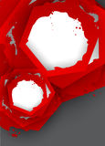 Background with red hexagons Royalty Free Stock Image