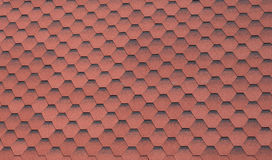 Background from red hexagons Royalty Free Stock Photo