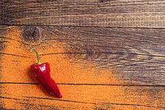 Background with red hot peppers Stock Photo