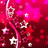 Background Red Indicates Abstract Twirl And Stars Royalty Free Stock Images