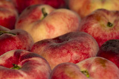 Background of red juicy peaches Stock Photo