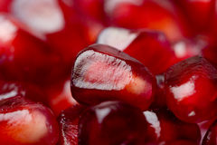 Background of a red juicy ripe pomegranate seeds Royalty Free Stock Image