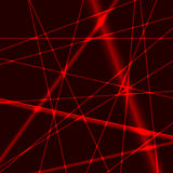 Background with red laser random beams Stock Images
