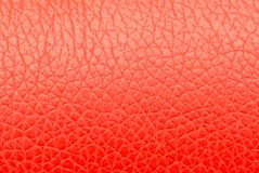 Background of red leather. Photo of an abstract texture Stock Images