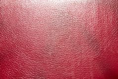 Background of red leather. Photo of an abstract texture Royalty Free Stock Photo
