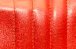 Background of red leather Stock Photos