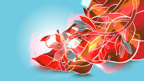 Background with red leaves Royalty Free Stock Image