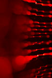 Background of red LED lights with bokeh effect Stock Photo