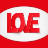 Background Red Letter Love Royalty Free Stock Images
