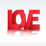 Background Red Letter Love Royalty Free Stock Photography
