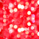 Background of red lights and hearts Royalty Free Stock Images