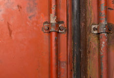 Background red metal container Stock Photography