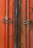 Background red metal container Royalty Free Stock Photography