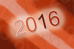2016  background. 2016 red orange abstract background Stock Images