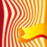 Background with red, orange an yellow stripes and ribbon Royalty Free Stock Photos