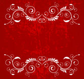 Background. Red ornate frame- creative design elements Royalty Free Stock Photo