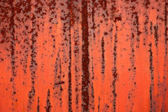 Background from red painted iron Royalty Free Stock Images